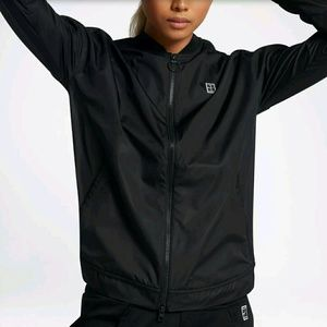 fedcec89f078 Nike Jackets   Coats - Nike Court Bomber Tennis Jacket Womens Sz XL Black